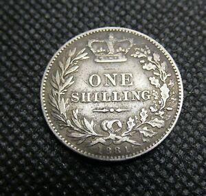 LOT 468)   -   1881   GREAT BRITAIN SILVER SHILLING