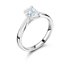 Excellent Cut Oval Not Enhanced Fine Diamond Rings