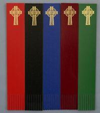 Bookmarks CELTIC CROSS Gold foil blocked on Leather Ideal Gift/Keepsake