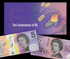 Australia Currency - 2016 - Two Generations RBA $5 Banknote Folder - Old & New