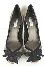 5624cae5cf2 ZARA Gray Black Women s High Heel Fancy Shoe with Bow tie Satin 39 9M