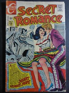 Secret Romance #11 (1971 Charlton) Heart Without Hope! Nothing But Tears! ~ GVG