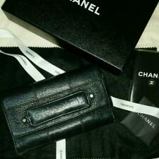 Chanel Long Wallet Leather Coco Mark m677381662 Black Pre-owned From Japan