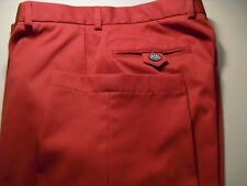 MINT! BROOKS BROTHERS COUNTRY CLUB PROSPORT FLAT FRONT PANTS RED 33X30