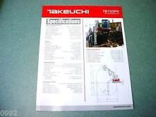 Takeuchi TB153FR Zero Swing Excavator Brochure
