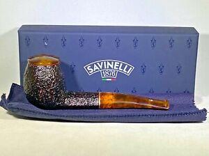 Savinelli Tortuga Rusticated..173...Italy...6mm..New In Box/Unsmoked