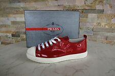 Prada tg. 36,5 Sneakers Scarpe con lacci Scarpe 3E5876 Lacca rosso rossa