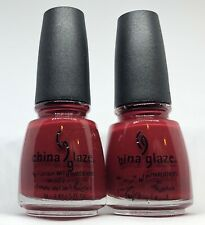 China Glaze Nail Polish One More Merlot 599 Deep Mulberry Brown Red Creme Lacque