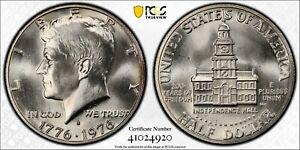 1976 S Kennedy Half Dollar PCGS MS64 Silver DDO FS101 Registry Coin Bicentennial
