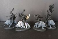 Warhammer Age of Sigmar Beastclaw Raiders Mournfang Pack (4) Assembled Miniature