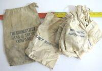 Vintage Canvas Bank Bag Lot of 11 Connecticut Bank & Trust Venda-Can Inc CBT