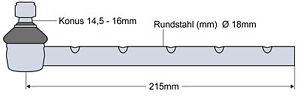 Kugelgelenk Kugelkopf für Fendt GT231 231/00001-20000