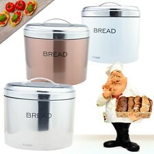 Bread Bin White/ Silver/ Copper Food Storage Kitchen Organisation Loaf Holster