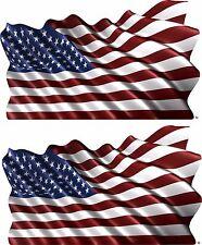 2-Set USA America Vehicle Flag Trailer Boat Car Wall Art Truck Sticker Decals