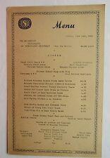 Restaurant Menu For The Atlantic Beach Hotel & Cabana Club 1952