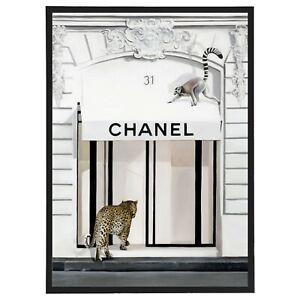 Designer Fashion Week Store Animal Framed Print