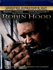 New Blu-Ray - Robin Hood (Unrated + Theatr) Russell Crowe, Cate Blanchett,