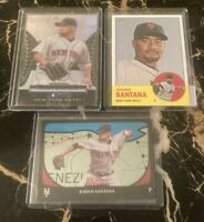 2011-2012 Johan Santana Topps Bowman Heritage New York Mets (3) Card Lot!