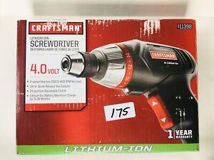 Craftsman 4 volt Cordless Screwdriver Lithium-Ion with Case & 20pc Bit set 11398