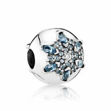 NEW Authentic Pandora Crystallized Snowflake Multi-Colored Clip 791997NMB Charm