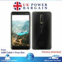 Nokia 6.1 2018 Black Unlocked 32GB 16MP NFC Smartphone Octa Core Android TA-1050
