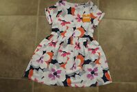 NEW Gymboree Girls Short Fold Sleeve Floral Dress Size 4 5 6 Multi Color