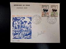 NIGER  105/06   PREMIER JOUR FDC      FAUNE , AUTRUCHE      50+60F      1960