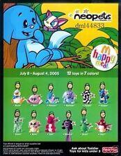 2005 McDonalds Neopets MIP Complete Set - Lot of 12, Boys & Girls, 3+