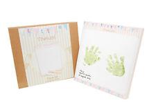 Baby Keepsake Hand Foot Feet Printing Canvas Imprint Kit Canvas Paint Brush NEW