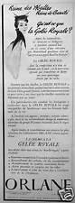 PUBLICITÉ ORLANE LA CRÉME A LA GELÉE ROYALE REINE DES ABEILLES REINE DE BEAUTÉ