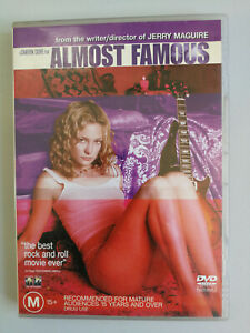 Almost Famous DVD Billy Crudup and Kate Hudson 'Best Rock and Roll Movie' M15+