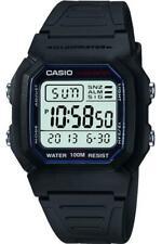 Casio Dual Time Alarm Watch Black W-800H-1AVES