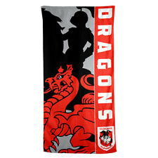 St George Illawarra Dragons NRL Beach Bath Gym Towel Christmas Birthday Gift
