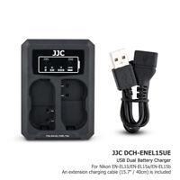 USB Dual Battery Charger fits EN-EL15a/b fr Nikon Z7 Z6 D780 D850 D810 D750 D610