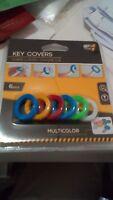 Anillas de colores para marcar llaves de plastico para el llavero redondas marca