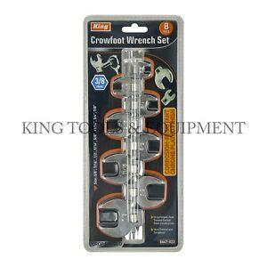 King 3/8 Drive Crowfoot Wrench Set (8-PC Set)SAE