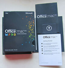 Microsoft Office for Mac 2011 Home and Business Word Excel Outlook W6F-00202