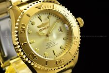 INVICTA Men 47mm Pro Diver Automatic NH35A Gold Plated Gold Dial Bracelet Watch