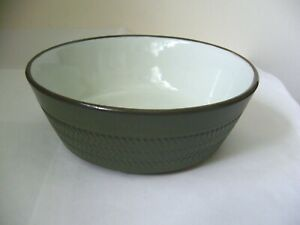 DENBY CHEVRON SOUP CEREAL DESSERT BOWL 2ND QUALITY GOOD USED CONDITION F