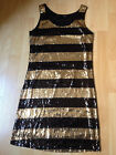ROBE H&M VINTAGE XS 34 36 TBE PAILLETTES RETRO DRESS divided HM dégriffée