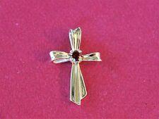 James Avery  Ribbon cross with garnet 14k  yellow gold