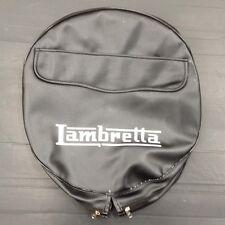 """Spare wheel cover 10"""" with Lambretta logo black/white for Lambretta"""