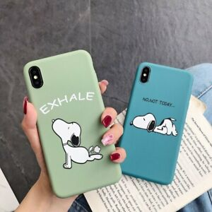 Snoopy Dog Silicone TPU Phone Case Cover For iPhone 6 7 8plus XS XR 11 12Pro Max