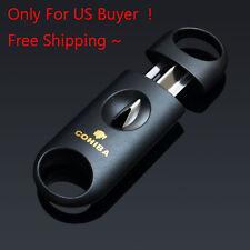 For US Buyer Cohiba Black V Blade Cigar Cutter Scissors Free Shipping