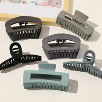 Large Hair Claw Clips for Women Girls Matte Frosted Geometric Hair Clamps Crabs