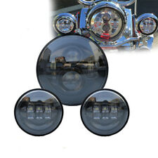 """7"""" LED Headlight Passing Lights for Harley Fatboy Heritage Softail Deluxe FLST"""