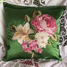 DESIGNERS GUILD FABRIC ROYAL COLLECTION EMERALD VERITY CUSHION COVER 40x40cm