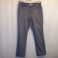 "Chico's Platinum Denim Straight Jeans Women's Size 0.5 Short Gray 28 3/4"" Inseam"