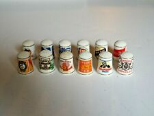 12 Thimbles Part of Franklin Mint Collection Lipton Campbells Borax Hershey
