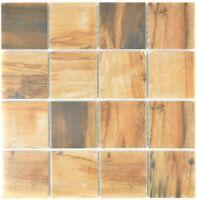 Mosaik Fliese Keramik braun Holz dunkel Duschboden Küche 16-2004/_f 10 Matten